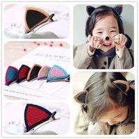 bb party supplies - Cute Hairpin Rabbit Cat Ear BB Clips Kids Girls Dress Up shining Hair Accessories Birthday Halloween Party Supplies