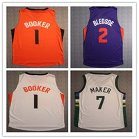 Wholesale NEW high quality BOOKER BLEDSOE MAKER Running Jerseys Embroidery Lo