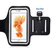 al por mayor iphone brazalete paquete al por menor-Brazalete para el iPhone 6 / 6s / 6Plus Galaxia S6 S5 S4 iPods del iPhone 7 / 7s con el suplemento para los entrenamientos que funcionan Aptitud que completa un ciclo con el paquete al por menor