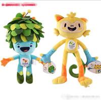 animal olympics - 30CM Rio de Janeiro Brazil Olympic Mascots Vinicius and Tom Paralympic Games Movies Cartoon Stuffed Animals Plush Toys Gift