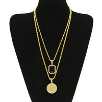 Wholesale New Arrival Micro Ruby Black Jesus Face Pendant Chain Necklace Set for Men High Quality Zinc Alloy Iced Out Hip Hop Jewelry