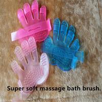Wholesale rubber pet cat dog glove brush Healthy Massage bath comb clean