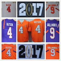 Wholesale 2017 College playoff Clemson Tigers Diamond DeShaun Watson Artavis Scott Mike Williams Wayne Gallman II Ben Boulware S XL