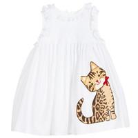 animal costume pattern - Girls Summer Dress Cotton Reine Des Neiges Princess Dress Girl Costume Cat Pattern Lace Children Dress Kids Clothes