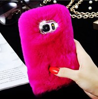 apple ladies case - Fashion Lady Phone Case Winter Warm Fluffy hair Fuzzy phone case With Bling Diamond For Iphone s s plus plus Galaxy S6 S7 S7 Edge