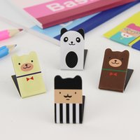 Wholesale Set Lovely Cartoon Blue Green Pink Magnetic Bookmark Clips Fashion Personality Book Mark Office Stationery Supplies