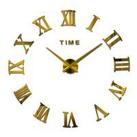 Wholesale HOT d diy Acrylic miroir wall clock stickers watch clocks Quartz Modern reloj de pared home decoration new
