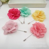 baby clothes pins - C Solid Gauze Flower Ladies One Font Brooches Novelty Floral Baby Girls Pins Fashion Suit Clothes Accessories