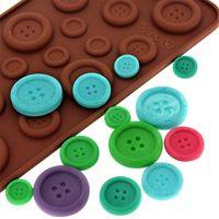 Wholesale 1 PC Silicone Chocolate Mold Fondant Cookies Cake Molds Button Shape Cake Decoration Tools Ice Cupcake Lollipop Sugar Tool