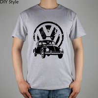 al por mayor cortocircuitos vw-Venta al por mayor VW manga corta camiseta Top Lycra algodón T-shirt nuevo estilo de DIY