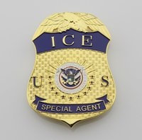 Wholesale Militaire Medailles Collection Dhs Department Of Homeland Security Immigration And Customs Enforcement Ice Agents Metal Badge