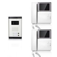 apartment inches - wired video door phone inch handset intercom apartments rainproof and night vision
