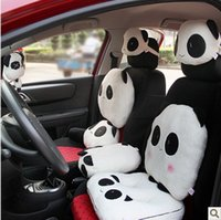 automobile lumbar support - nterior Accessories Automobiles Seat Covers Cute Panda Car Cushion Soft Headrest Neck Back Lumbar Supports Rest Seat Styling Office Auto