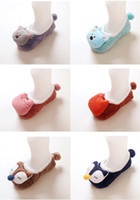 Wholesale Baby Socks Fall And Winter Animal Cartoon Yarn Anti Skid Doll Socks Baby Floor Socks Package Mail