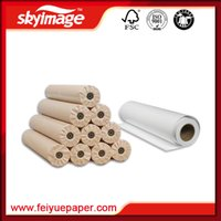 Wholesale Multi propose FBS GSM Anti curled wide format sublimation transfer paper rolls