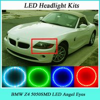 Wholesale 4 MM RGB SMD LED ANGEL EYES HALO RINGS kit fit for BMW Z4 V Car light LED Multi Color