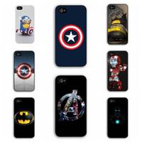 For Apple iPhone america spider - TPU Marvel Hero Captain America Superman n Iron Man Batman n Spider Man Case For Apple iPhone Plus Phone Cover For iPhone6