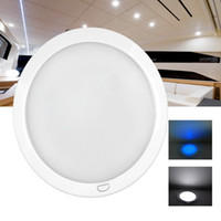 ambiance lamps - 8 quot Dimmable LED Cabin Dome Light Blue Mood Ambiance Light Ultra Slim LED Lamp Caravan Motorhome RV Lamp Roof Dome light