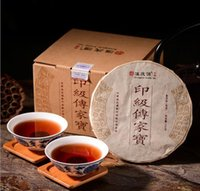 Wholesale Promotion Palace Ripe puerh cooked tea brewing times BuLang PUER pu er Pu er cake slimming green food for health care Freeshipping