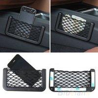 Wholesale 2017 Universal Car Seat Side Back Storage Net Bag Phone Holder Pocket Organizer Black P8T
