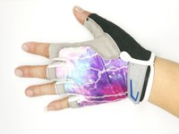 beautiful body art - 2017 new hot summer half star ice silk beautiful bicycle gloves air sports gloves mountain bike gloves