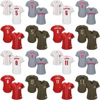 bench women - women Johnny Bench Billy Hamilton joe morgan Barry Larkin Cincinnati Reds Baseball Jerseys cool base Stitched size S XL