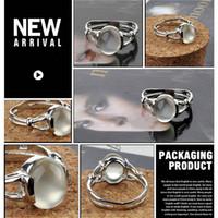 Wholesale Twilight New Moon BELLA Natural Moonstone Ring Isabella Swan Cullen Vampire Girl Ring Jewelry Moonstone Ring