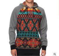 big mens outerwear - S XL Mens Hoodies D Printed Geometric Sweatshirts Hoodies for Men D Printed Hoodies Tracksuits Big Pocket Coat Outerwear Tops