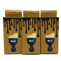 Wholesale 2016 HOT Kylie Makeup Brush Cosmetic Foundation BB Cream Powder Blush Makeup Tools Black gold box kylie jenner brush DHL