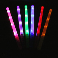 Girls 5-7 Years Latex Concert glow stick, flashing rainbow bar, LED large fluorescent bar, colorful light-emitting stick, wholesale children's toys