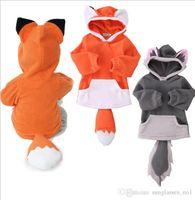 Wholesale children fox Sweater cartoon fox Hoodies baby Sweatshirts kids INS pullover Fox Long Sleeved Tops Blouse color KKA1035