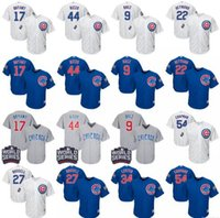 Wholesale 2017 World Series Patch Chicago Cubs men baseball Jerseys Bryant Rizzo Javier Baez Lester Russell Chapman