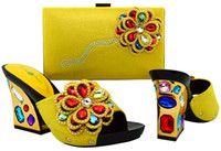 Wholesale Matching Shoes and Bags for African Partys Italian Shoes with Matching Bags High Quality Women Shoe and Bag Sets VL1
