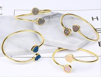 american food europe - Fashion natural crystal bracelet Europe and the exquisite agate crystal tooth vacuum plating bracelets The jewelry accessories