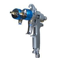 Wholesale Silver mirror Chrome Spray System Paint Guns Professional Spray On Chrome Double Nozzle Spray Gun free DHL shipping