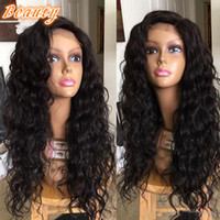 beauty wave ponytail - Brazilian Body Wave Lace Front Human Hair Wigs Brazilian Virgin Hair Glueless Full Lace Wigs Beauty High Ponytail Lace Front Wig