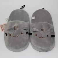 Nouveau 2016 Cute Pusheen Cat Plush Chaussures Indoor Kawaii Cartoon Stuffed Chaussures Adulte Chaussures d'hiver 11