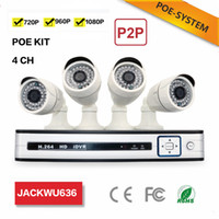 Wholesale POE indoor security ip camera system cctv camera surveillance systems p ch nvr kits