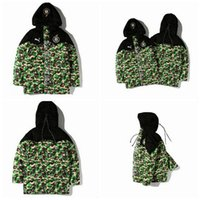 Wholesale Men s Popular Logo Camouflage Warm Hoodies Winter Thick Cotton padded Cothes Men Long Sleeve Warm Cotton padded Jacket Tops