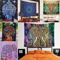 Wholesale Psychedelic Green Tree of Life Floral Tapestry Hippy Mandala Gypsy Wall Hanging Sheet Coverlet Picnic blanket Bedspread Curtain Decor Table