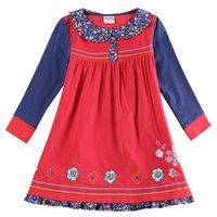 Wholesale Girl Clothing Girls Long Sleeve Dresses Embroidered kids Spring Autumn Winter Dresses for Baby Girls H5873Y