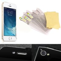 apple cleaning cloth - DHL For iphone inch Plastic Film iphone plus inch Clear Screen Protector Film Cover Guard Protection with Cleaning Cloth No Pac