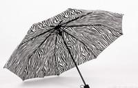 achat en gros de zebra achats-Zebra motif frappé pluie de tissu et de la pluie double parapluie, beau shopping ombrelle de mode essentielle peut être en gros