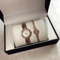Wholesale New Famous Brand Luxury Bracelet Quartz Wrist Watch Christmas Gift for Ladies Women Rose Gold Silver