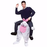 Wholesale In stock Styles Carry Me Ride on Easter Bunny Mascot Costumes Animal Funny Dress Up Fancy Pants Novelty Mascot Costumes