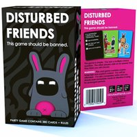 Wholesale 2017 In stock wonderful gift Adult game Disturbed Friends This game should be banned Cards Game Free DHL Christmas Gift