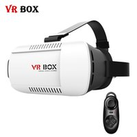 Wholesale VR BOX Virtual Reality D Glasses Headset Cardboard Head Mount vrbox Helmet for Smartphone Remote Control Gamepad