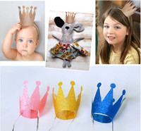 Wholesale birther party hats Birthday Crown hat party hair accessory prince princess for party decorations adult child crown hat set DHL JH001