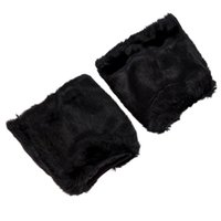 fundas de bota peluda al por mayor-Venta al por mayor- Fluffies Fluffy Furry Leg Warmers Boots Covers Rave Furries Negro