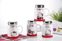 animal tea - Creative cartoon animal ceramic cup office mug mirror Mug tea cup large capacity milk cup